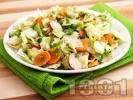 Рецепта Салата айсберг с моркови и репички